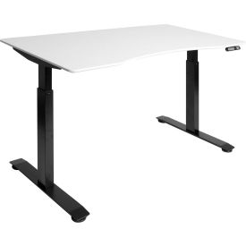 "AIRLIFT™ S2 Electric Height Adjust Desk - 54""W x 30""D x 28.7""-48.4""H - White with Black Frame"
