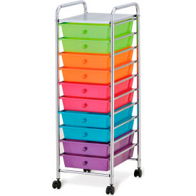 """Seville Classics 15-3/8"""" x 12-13/16"""" x 38-3/16"""" 10-Drawer Organizer Cart Pearlescent... by"""