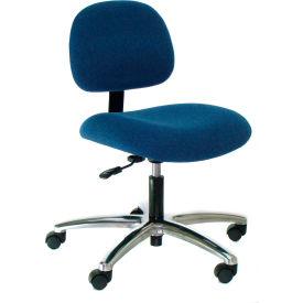 Heavy Duty Fabric Chair with Aluminum Base Blue