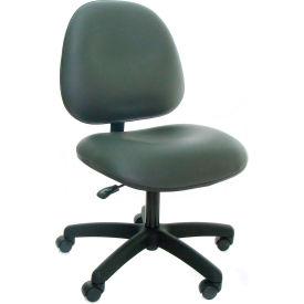 Heavy Duty High Back Vinyl Chair with Nylon Base Gray