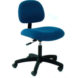 Heavy Duty Fabric Chair with Nylon Base Blue