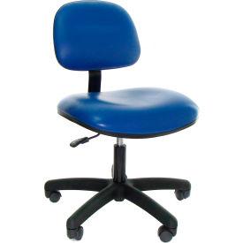 Heavy Duty Vinyl Chair with Nylon Base Dark Gray