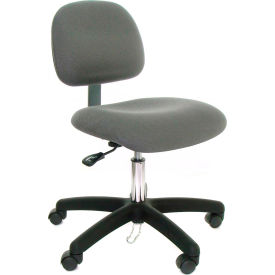 Low Back Conductive Fabric Chair with Nylon Base & Drag Chain Light Burgundy