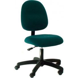 Heavy Duty Mid Back Fabric Chair with Nylon Base Dark Blue
