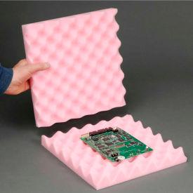 """Anti-Static Convoluted Foam Set, 12""""W X 12""""L X 2""""D - Pkg Qty 24"""