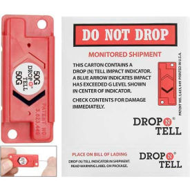 Resettable Drop-N-Tell Indicator, 50g Range, Sturdy Electronic Equipment - Pkg Qty 25
