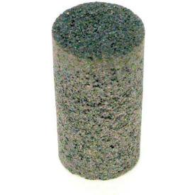 """Grier Abrasives Plug Cylinder, Flat Tip, 2"""" x 4"""" - 5/8-11 Shank, 20, Brown - Pkg Qty 20"""