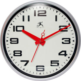 "Infinity Instruments 15"" Round Lexington Avenue Wall Clock - Silver"