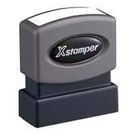 """Xstamper® Pre-Inked Message Stamp, COMPLETED, 1-5/8"""" x 1/2"""", Red"""