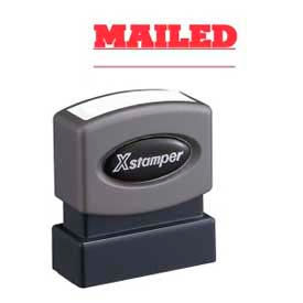"Xstamper® Pre-Inked Message Stamp, MAILED, 1-5/8"" x 1/2"", Red"
