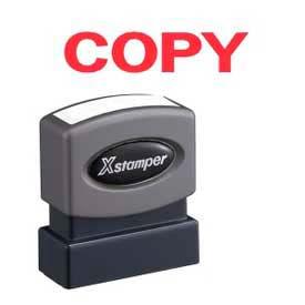 "Xstamper® Pre-Inked Message Stamp, COPY, 1-5/8"" x 1/2"", Red"