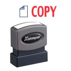 "Xstamper® Pre-Inked Message Stamp, COPY, 1-5/8"" x 1/2"", Blue/Red"
