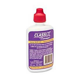 Xstamper® Classix Refill Ink, For Classix Self-Inking Stamps Only, 2 fl. oz. Bottle, Red