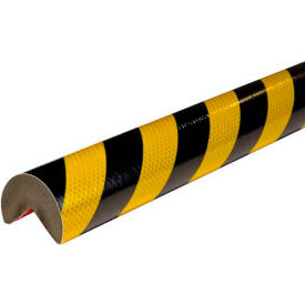 Knuffi® A+ Corner Bumper Guard, 3.28', Reflective Black/Yellow, 60-6855
