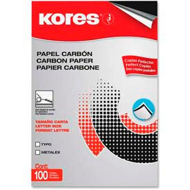 "Kores Carbon Paper, 8-1/2"" x 11"", Black, 100 Sheets/Pack by"