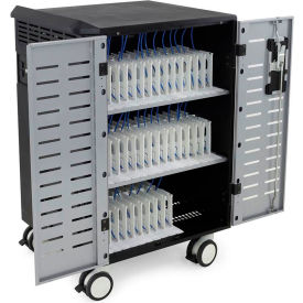 Ergotron® Zip40 Charging and Management Cart for 40 Laptops/Tablets, Black/Silver