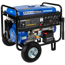 DuroMax XP8500E, 7000 Watts, Portable Generator, Gasoline, Electric/Recoil Start, 120/240V