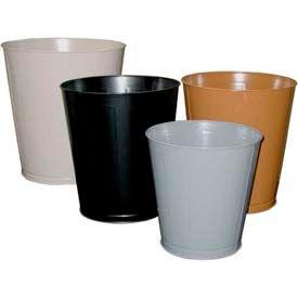 Impact® Round Metal Wastebasket -14 Qt., Gray, 1301-3 - Pkg Qty 6