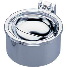 "Impact® Deluxe Hinged Metal Wall Ash Tray - 4"", 4004"