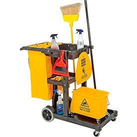 Impact® Janitor Cart - Gray, 6850