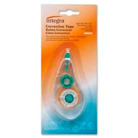 Integra™ Correction Tape, 1/5 in x 236 in, White Tape, Clear Dispenser