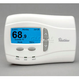 Deluxe Programmable Thermostat, 1 Heat / 1 Cool, Single-stage Gas