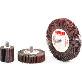 Superior Abrasives 10185 Flap Wheel Mandrel 2 x 1 x 1/4-20 Aluminum Oxide Medium - Pkg Qty 10