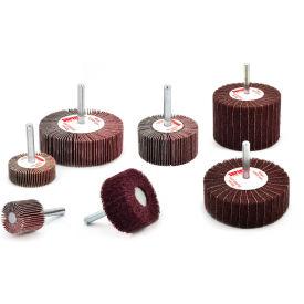"Superior Abrasives 10470 Duplex Wheel 1/4"" Mandrel 3"" Aluminum Oxide Medium - Pkg Qty 5"