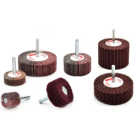 "Superior Abrasives 10472 Duplex Wheel 1/4"" Mandrel 3"" Aluminum Oxide Very Fine - Pkg Qty 5"