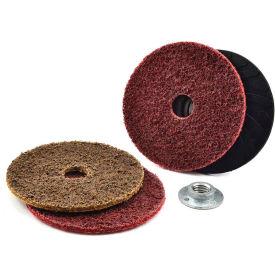"Superior Abrasives 42774B Condition Disc Hook and Loop 4-1/2"" Aluminum Oxide Medium - Pkg Qty 20"