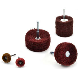 "Superior Abrasives 46631 Satin Disc Wheel 1/8"" Mandrel 1"" Aluminum Oxide Coarse - Pkg Qty 10"