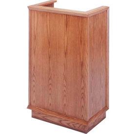 # 401 Single Pulpit, Light Oak Stain