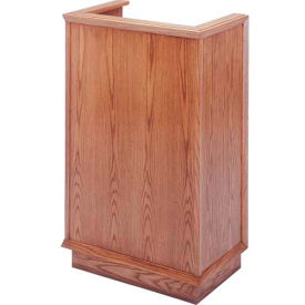 # 401 Single Pulpit, Medium Oak Stain