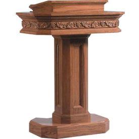 # 5402 Pedestal Pulpit, Medium Oak Stain