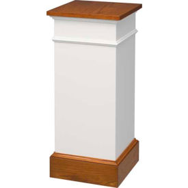 810 Flower Stand Two Tone Colonial White Dark Oak Stain Trim