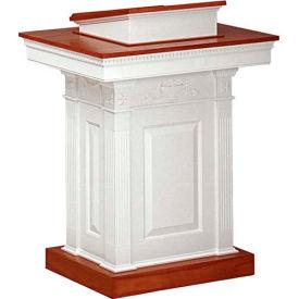 # 8201 Pulpit, Two Tone Colonial White, Medium Oak Stain Trim