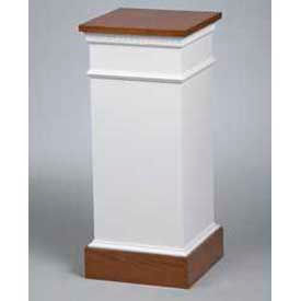 8201 Flower Stand Two Tone Colonial White Light Oak Stain Trim
