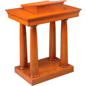# 8301 Pulpit, Two Tone Colonial White, Light Oak Stain Trim