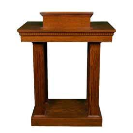 # 8401 Pulpit, Light Oak Stain