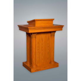 #8500 Series Ornate Enclosed Pulpit, Light Oak Stain