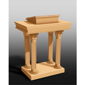 #8500 Series Ornate Open Pulpit, Two Tone Colonial White, Light Oak Stain