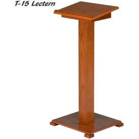 """Lift-lid Lectern, 45""""H, Light Oak Stain"""