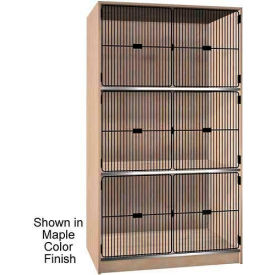 """Ironwood 3 Compartment Black Grill Door 48-1/2"""" W Cabinet, Maple Color"""
