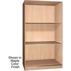 Ironwood 3 Compartment Open Storage Cabinet, Maple Color