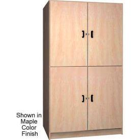 Ironwood 2 Compartment Wardrobe  Cabinet, Solid Door, Natural Oak Color