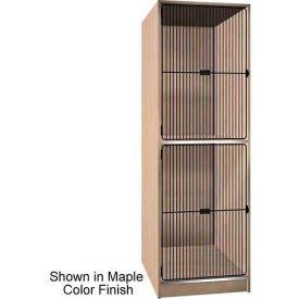 "Ironwood 2 Compartment Black Grill Door 40"" D Storage Locker, Maple Color"