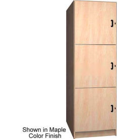 "Ironwood 3 Compartment Solid Door Storage 40"" D Locker, Maple Color"