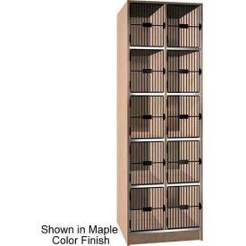 "Ironwood 10 Compartment Black Grill Door 30"" D Locker, Maple Color"