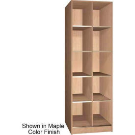 """Ironwood 10 Compartment Open Storage 30"""" D Locker, Maple Color"""