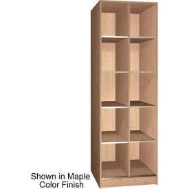 "Ironwood 10 Compartment Open Storage 30"" D Locker, Natural Oak Color"